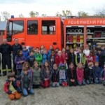 Ausflug zur Feuerwehr in Hochdorf