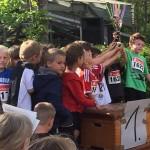 Die 1b - laufstärkste Klasse beim Crosslauf 2015