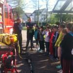 Besuch der Feuerwehr in der Mühlmattenschule