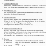 Elterninfo 11 – 24. April 2015